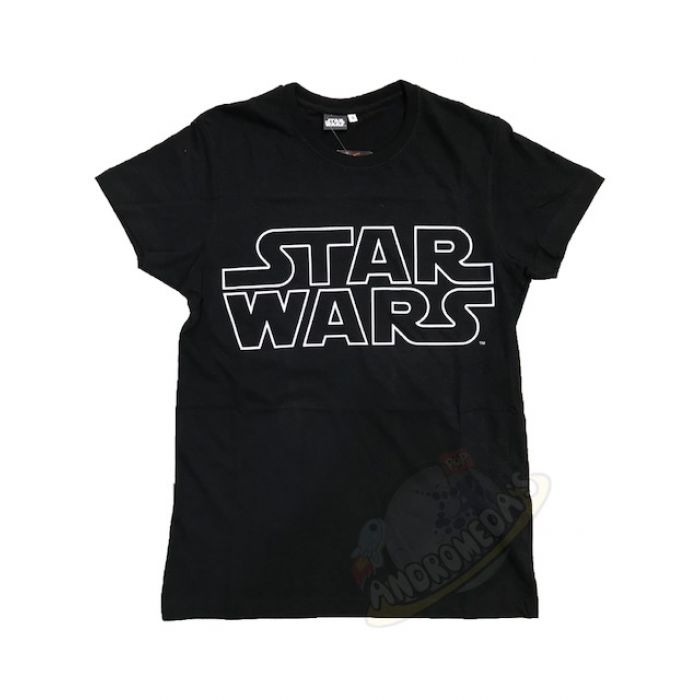 License T-Shirt Logo Star Wars White