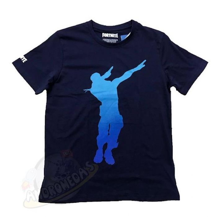 Camiseta Fortnite Dance Azul Infantil