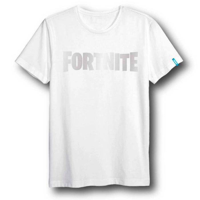 T-Shirt Fortnite White Logo Adult