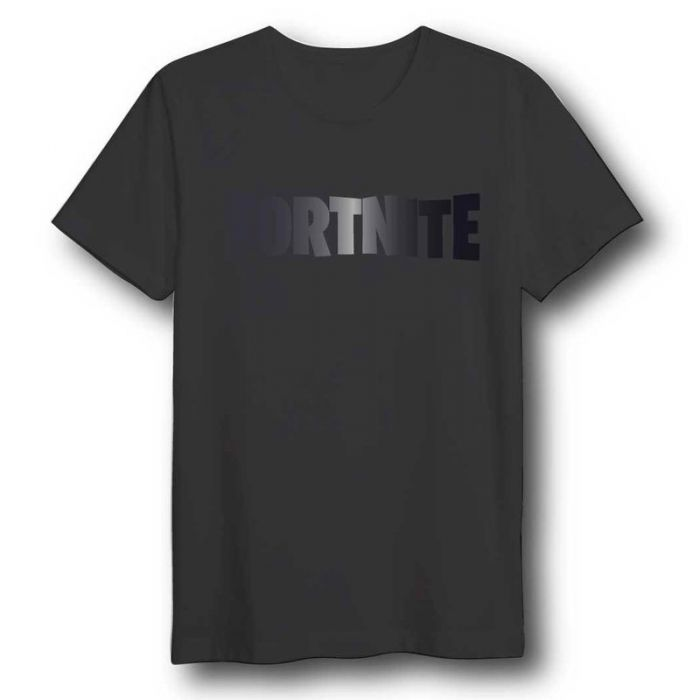 T-Shirt Fortnite Black Logo Adult