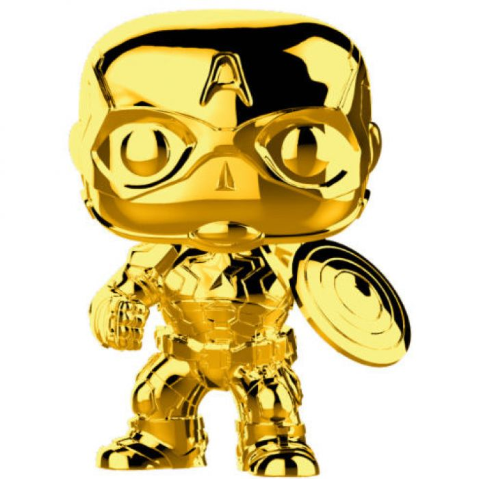 Figura Funko Pop! Capitan America Gold Chrome Marvel Studios