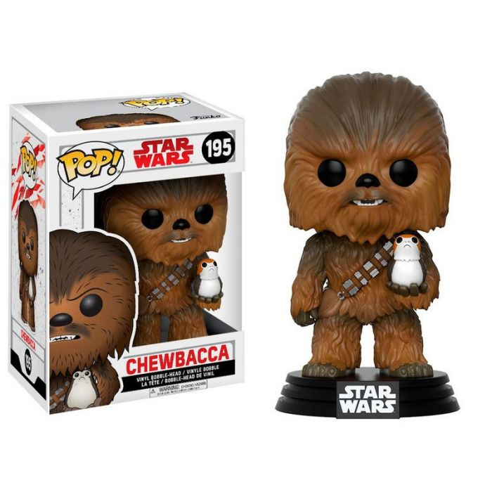 Figura Funko Pop! Chewbacca with Porg Star Wars Episode VIII