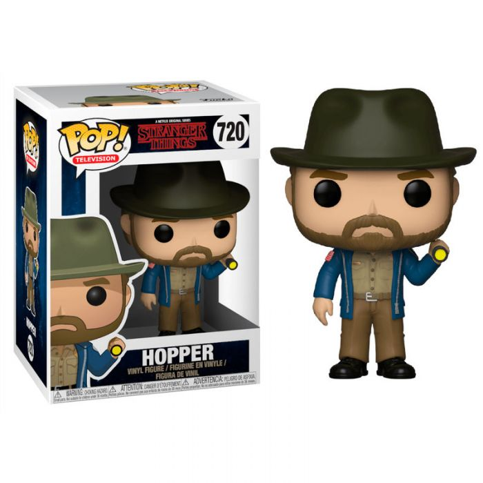 Figura Funko Pop! Hopper con linterna Stranger Things