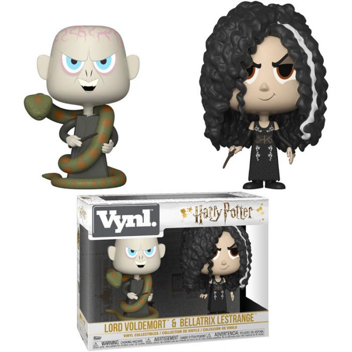 Figuras Vynl Harry Potter Bellatrix  y Voldemort