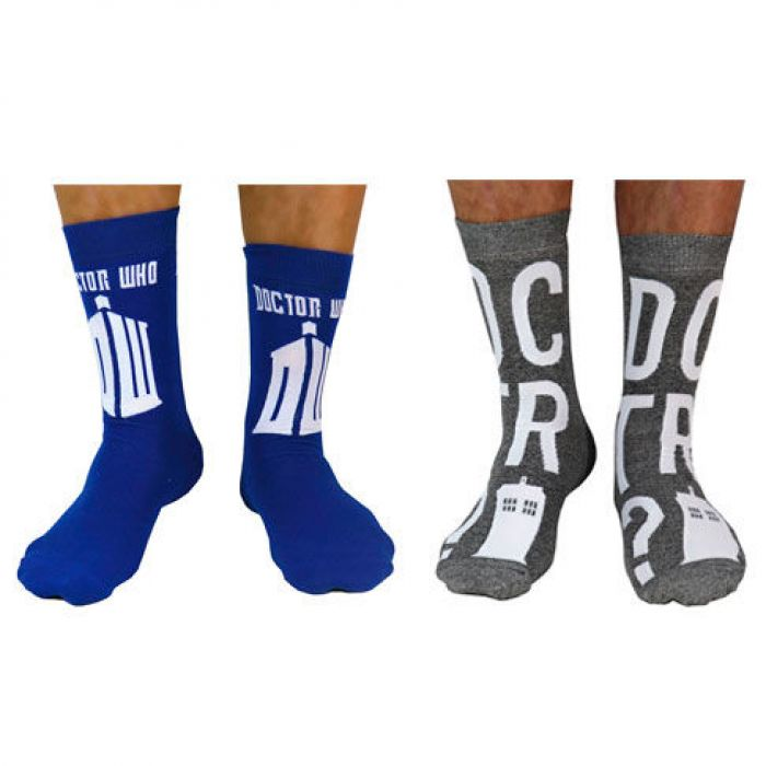 2 Pack Socks Doctor Who Adult