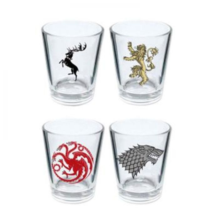Set Shot Glasses Game of Thrones